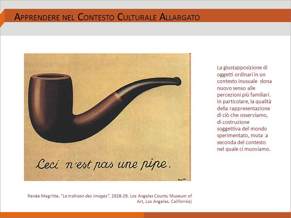 """A PPRENDERE NEL C ONTESTO C ULTURALE A LLARGATO Renée Magritte, """"La trahison des images"""", 1928-29, Los Angeles County Museum of Art, Los Angeles, Cali"""