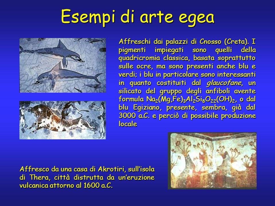 Esempi di arte egea Affreschi dai palazzi di Cnosso (Creta).