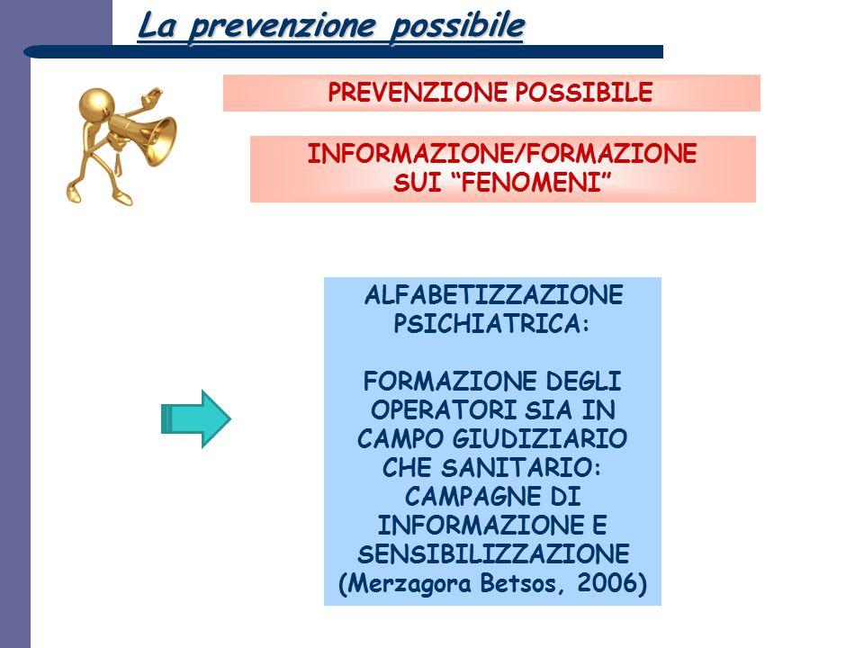 ALFABETIZZAZIONE PSICHIATRICA: FORMAZIONE DEGLI OPERATORI SIA IN CAMPO GIUDIZIARIO CHE SANITARIO: CAMPAGNE DI INFORMAZIONE E SENSIBILIZZAZIONE (Merzag