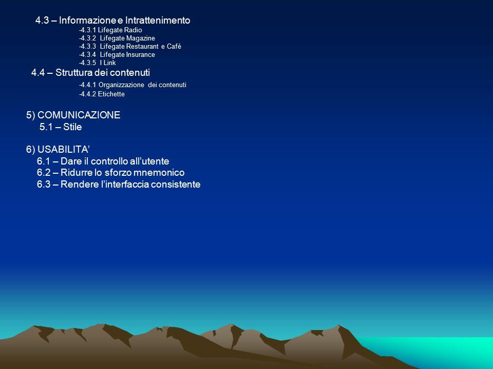 1)Partendo dalla prima home page,-quella principale e più esterna-si può accedere alle diverse sezioni senza assolutamente dover passare dalla seconda home page,che non è distinta come tale ma equiparata graficamente alle altre parti di Network e di Attività.