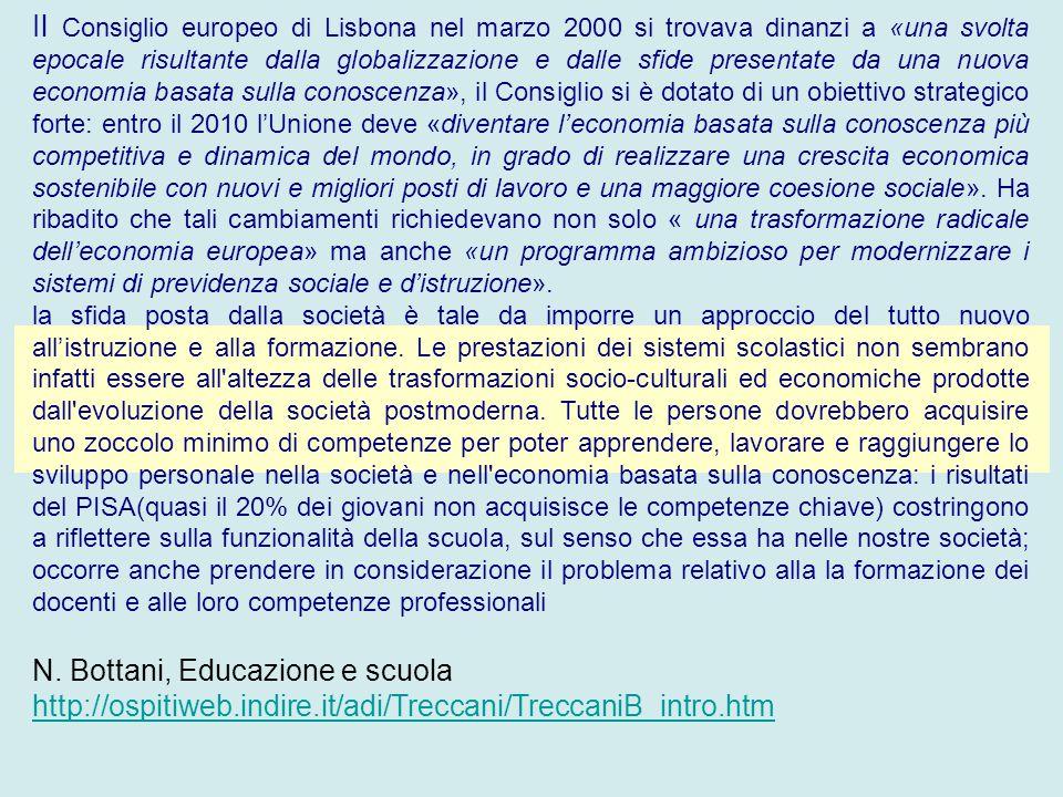 Il Consiglio europeo di Lisbona nel marzo 2000 si trovava dinanzi a «una svolta epocale risultante dalla globalizzazione e dalle sfide presentate da u