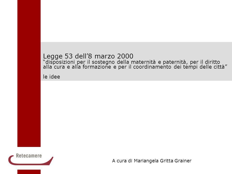 """1 Legge 53 dell'8 marzo 2000 """"disposizioni per il sostegno della maternità e paternità, per il diritto alla cura e alla formazione e per il coordiname"""
