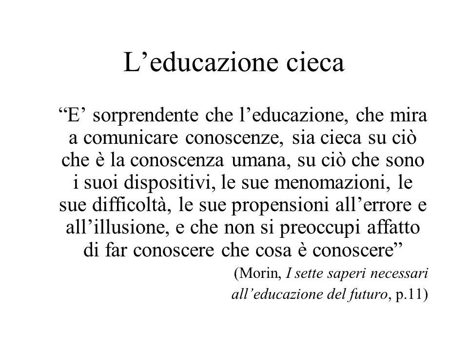 L'educazione (o insegnamento educativo ) L'insegnamento-apprendimento è un atto comunicativo L'educazione comunica conoscenze MA se non considera la conoscenza della conoscenza si ferma all'apprendimento 1 Fondamentale studiare i processi, le modalità, le relazioni tra parti, il contesto