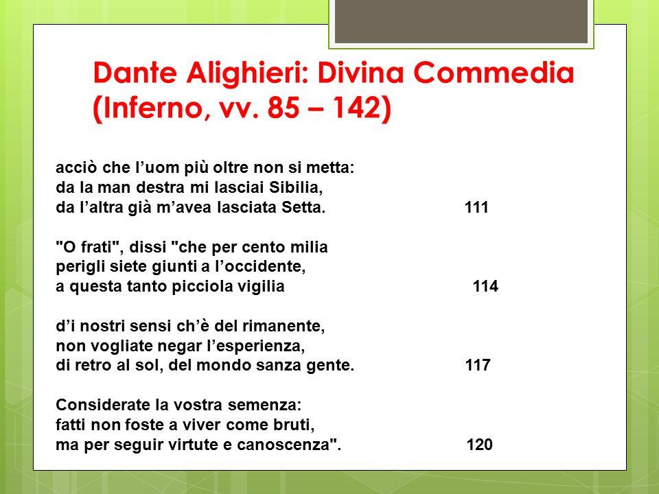 Dante Alighieri: Divina Commedia (Inferno, vv.