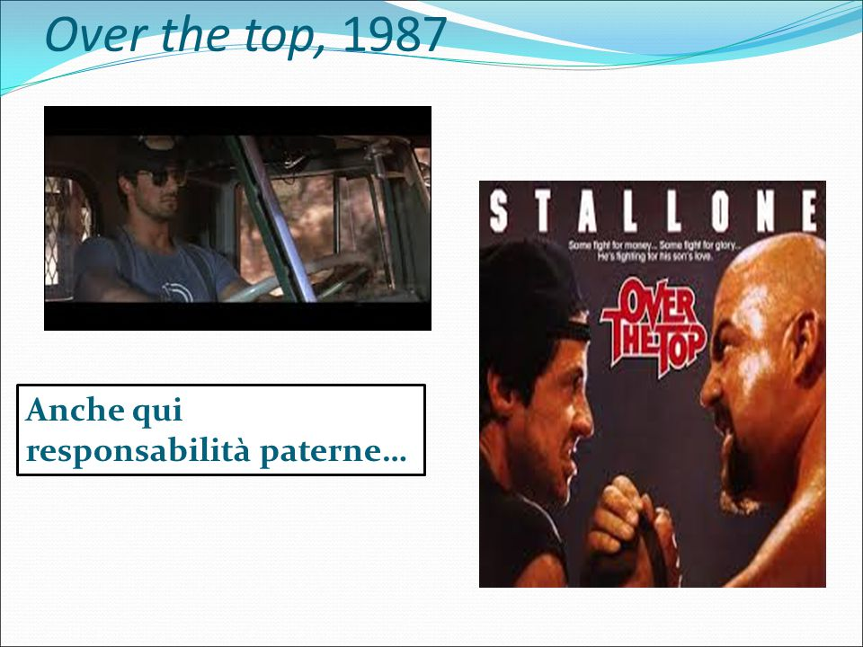 Over the top, 1987 Anche qui responsabilità paterne…