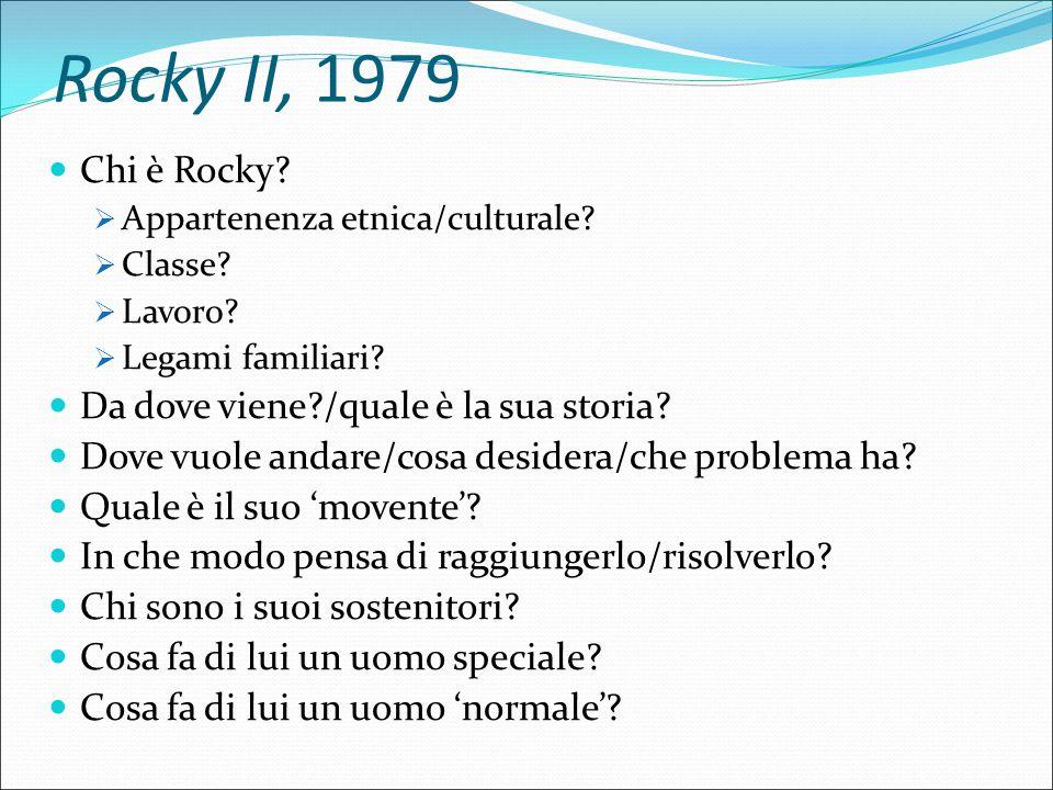 Rocky II, 1979 Chi è Rocky.