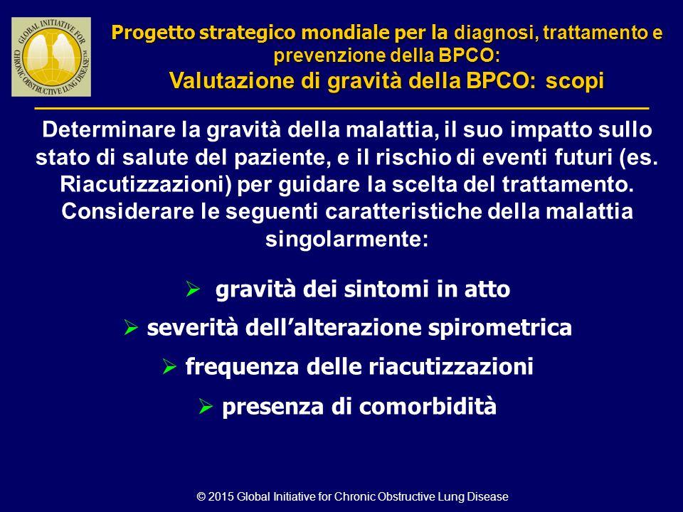 Determinare la gravità della malattia, il suo impatto sullo stato di salute del paziente, e il rischio di eventi futuri (es. Riacutizzazioni) per guid