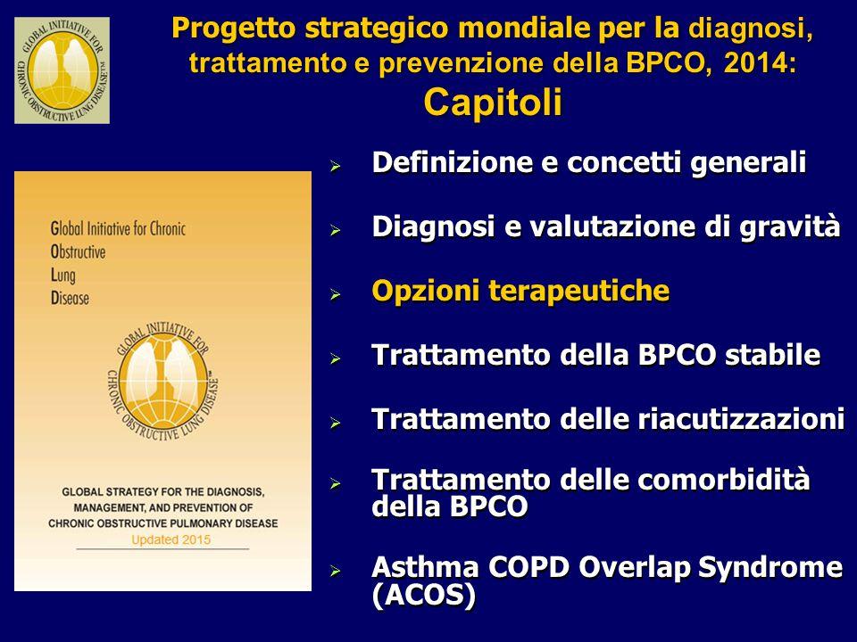 Progetto strategico mondiale per la diagnosi, trattamento e prevenzione della BPCO, 2014: Capitoli Progetto strategico mondiale per la diagnosi, tratt