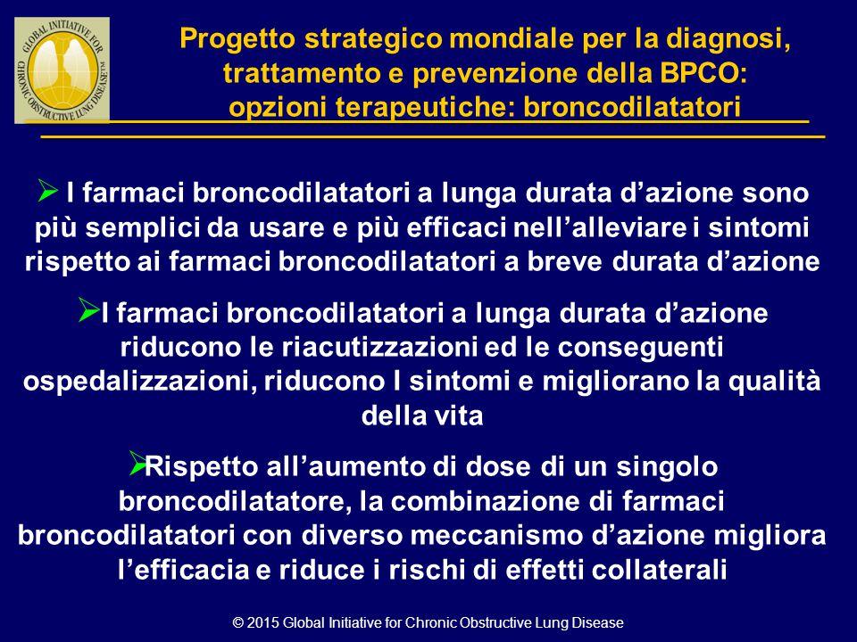 © 2015 Global Initiative for Chronic Obstructive Lung Disease Progetto strategico mondiale per la diagnosi, trattamento e prevenzione della BPCO: opzi