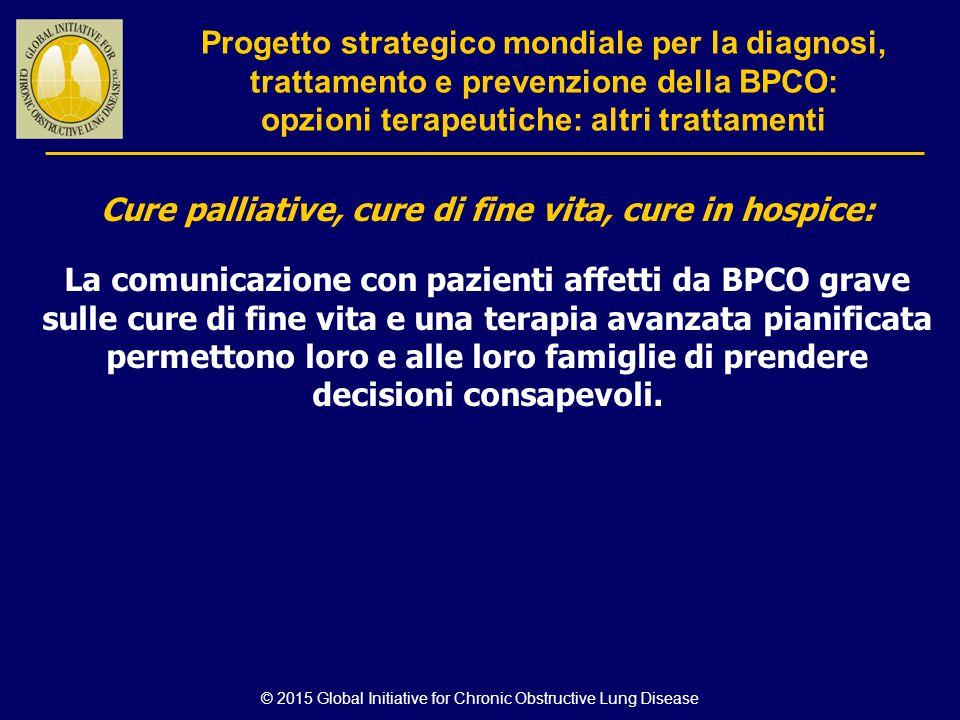 © 2015 Global Initiative for Chronic Obstructive Lung Disease Cure palliative, cure di fine vita, cure in hospice: La comunicazione con pazienti affet