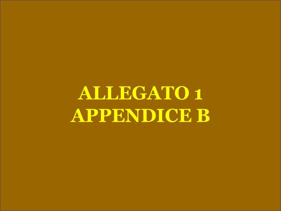 ALLEGATO 1 APPENDICE B