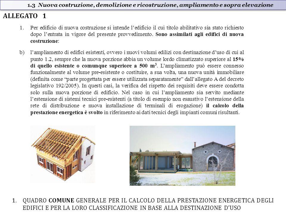 1.Per edificio di nuova costruzione si intende l'edificio il cui titolo abilitativo sia stato richiesto dopo l'entrata in vigore del presente provvedimento.