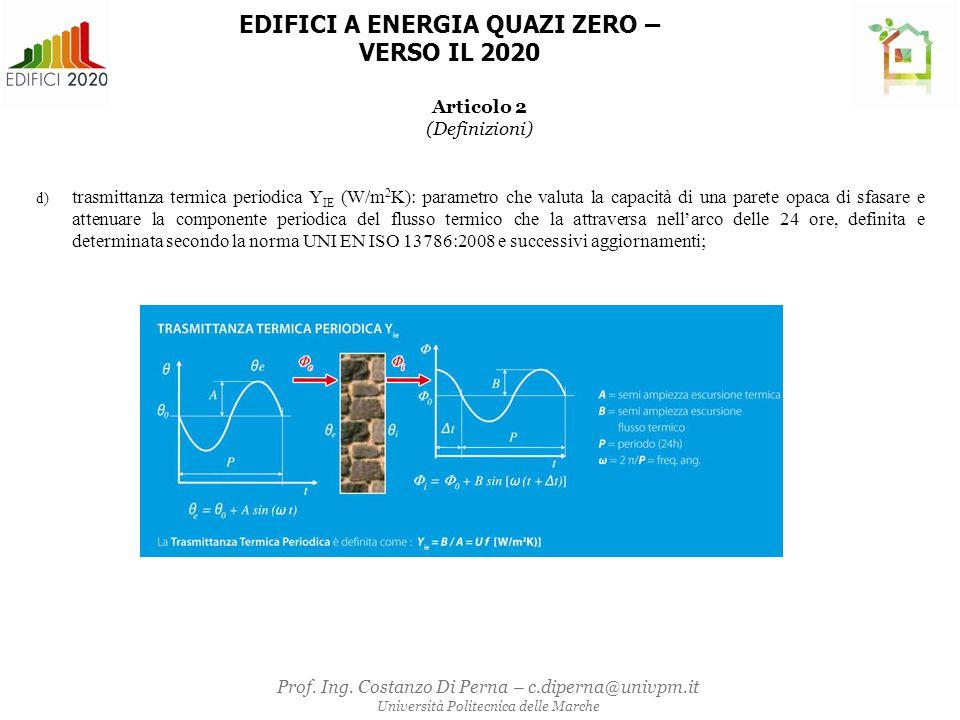 ALLEGATO 1 –APPENDICE B 1.VALORI DEI PARAMETRI CARATTERISTICI DEGLI ELEMENTI EDILIZI E IMPIANTI TECNICI NEGLI EDIFICI ESISTENTI SOTTOPOSTI A RIQUALIFICAZIONE ENERGETICA 1.1 Elementi edilizi Tabella 1- Trasmittanza termica U massima delle strutture opache verticali, verso l'esterno soggette a riqualificazione Zona climatica U (W/m 2 K) 2015 (1) 2021 (2) A e B0,450,40 C 0,36 D 0,32 E0,300,28 F 0,26 Tabella 2 - Trasmittanza termica U massima delle strutture opache orizzontali o inclinate di copertura, verso l'esterno soggette a riqualificazione Zona climatica U (W/m 2 K) 2015 (1) 2021 (2) A e B0,340,32 C0,340,32 D0,280,26 E 0,24 F 0,22