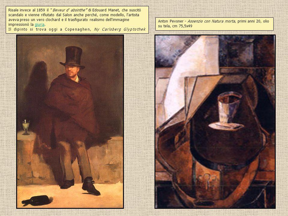"""Risale invece al 1859 il """" Beveur d' absinthe"""" di Edouard Manet, che suscitò scandalo e vienne rifiutato dal Salon anche perché, come modello, l'artis"""