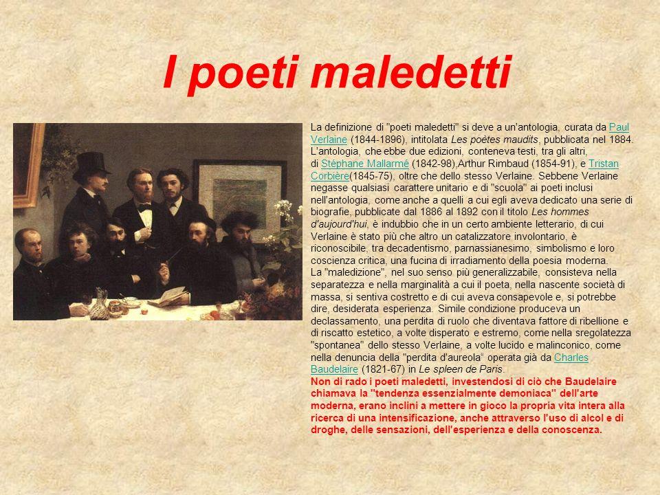 I poeti maledetti La definizione di