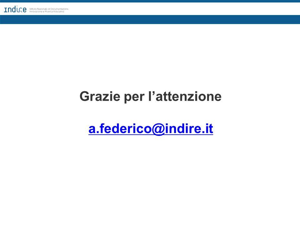 Grazie per l'attenzione a.federico@indire.it