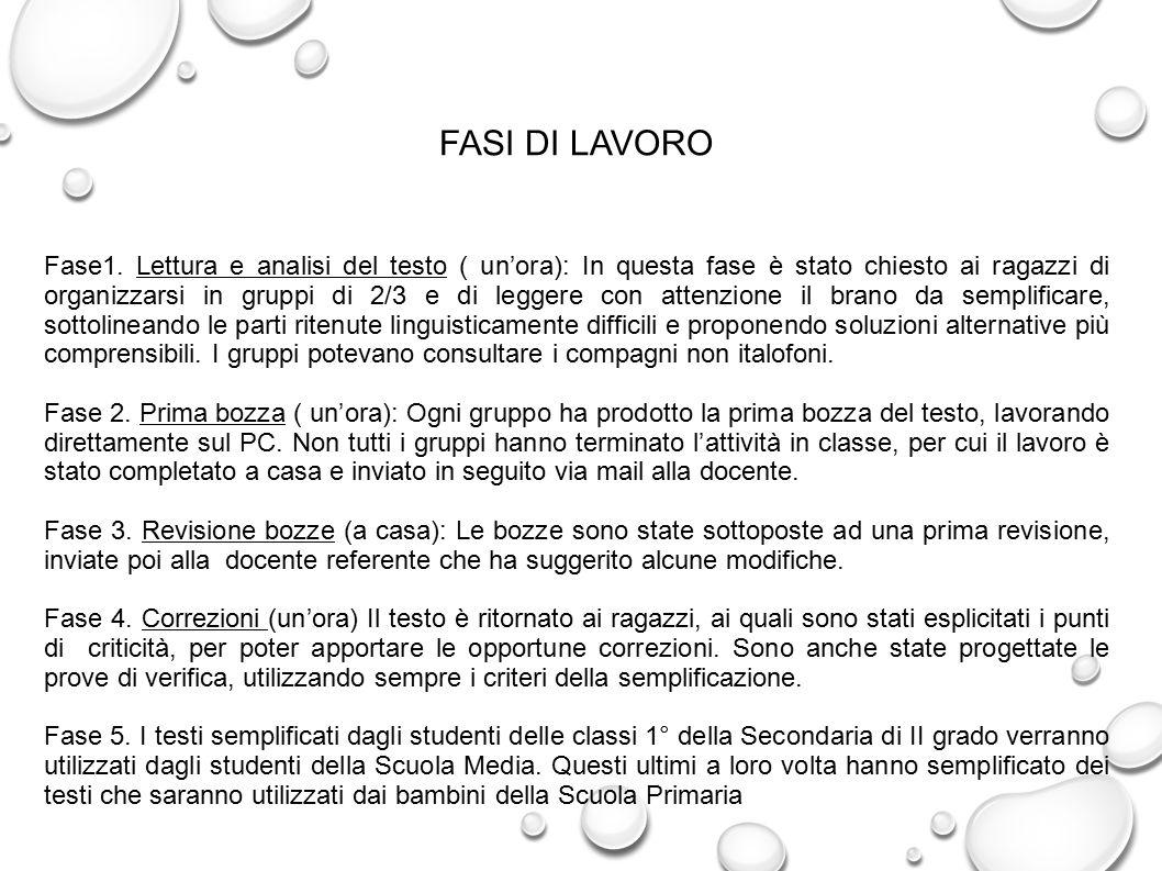 FASI DI LAVORO Fase1.