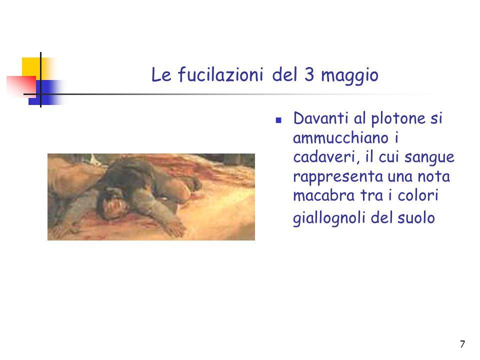 27 La Libertà che guida il popolo dipinto nel 1830 da Eugene Delacroix (olio su tela, m 2,60 × m 3, 25, Museo del Louvre, Parigi)