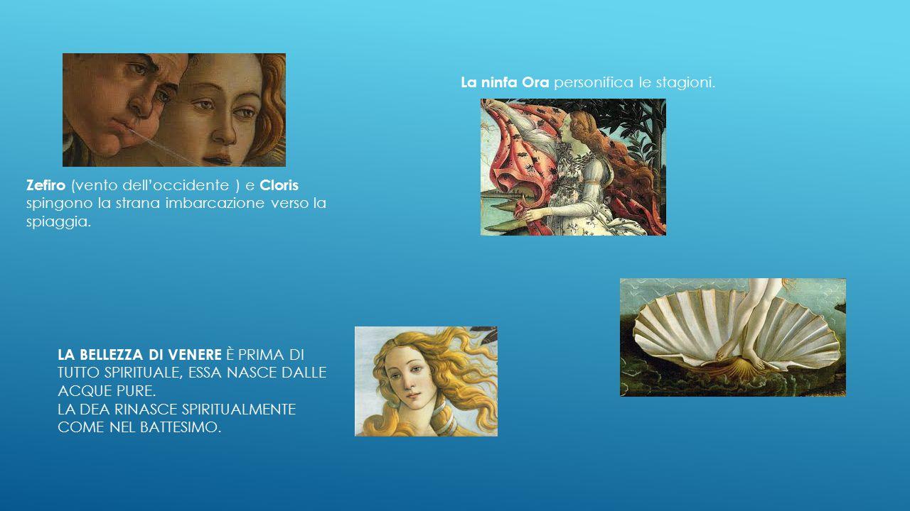 LA NASCITA DI VENERE SANDRO BOTTICELLI - 1474- 1475 Venere sorge dalla schiuma delle acque, nuda su una conchiglia, sospinta dai venti verso la riva d