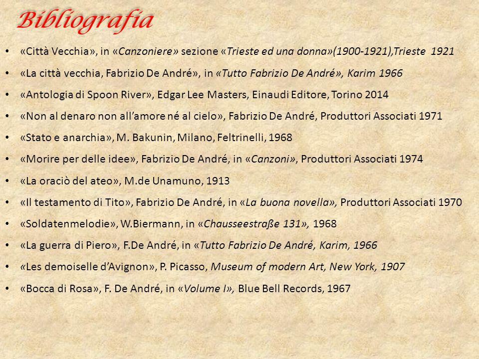 Bibliografia «Città Vecchia», in «Canzoniere» sezione «Trieste ed una donna»(1900-1921),Trieste 1921 «La città vecchia, Fabrizio De André», in «Tutto
