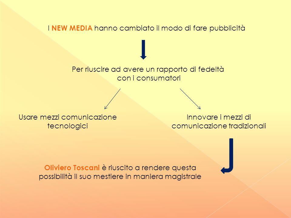 I NEW MEDIA hanno cambiato il modo di fare pubblicità Per riuscire ad avere un rapporto di fedeltà con i consumatori Usare mezzi comunicazione tecnolo