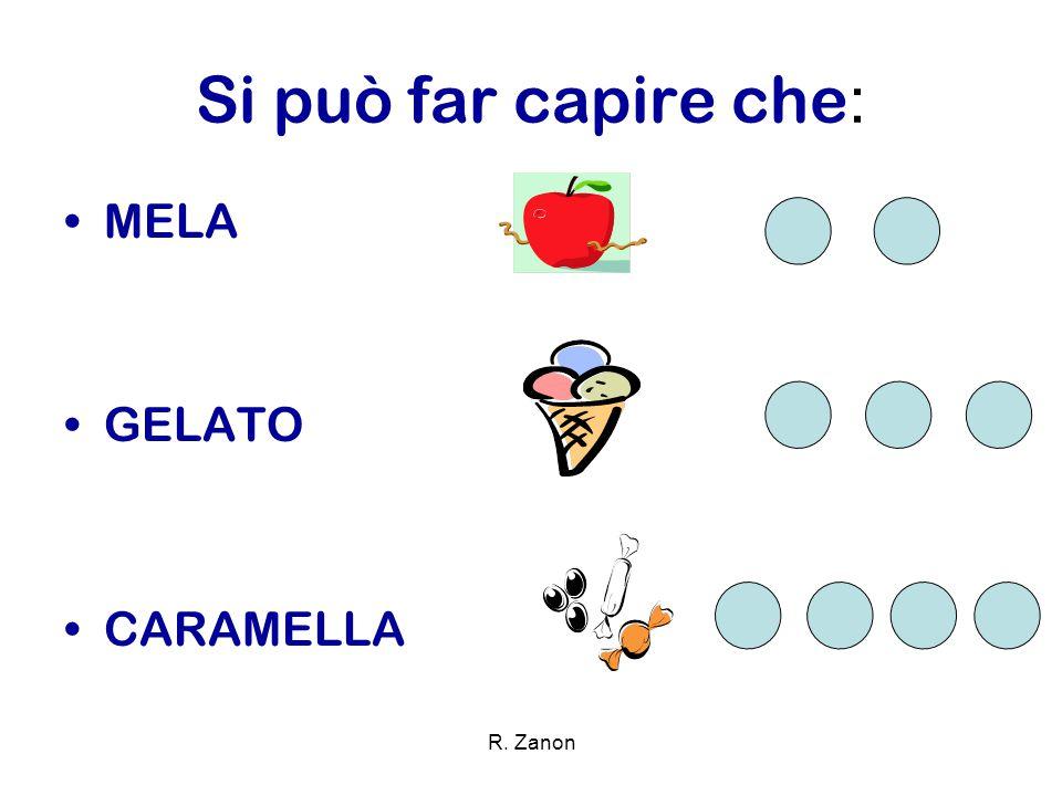 Si può far capire che : MELA GELATO CARAMELLA R. Zanon