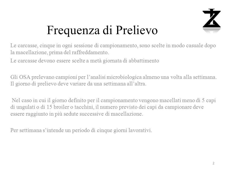 Espressione del risultato METODO DISTRUTTIVO Bovini Ovini Caprini Equini.