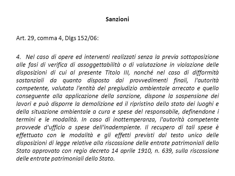 Sanzioni Art. 29, comma 4, Dlgs 152/06: 4.