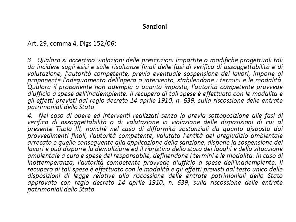 Sanzioni Art. 29, comma 4, Dlgs 152/06: 3.