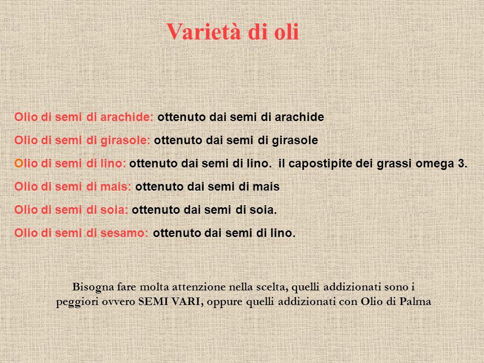 Olio Extra Vergine di Oliva Alcuni componenti Acidi organici saturi e insaturi (fonte Wikipedia) Antiossidanti - Tocoferoli (vitamina E) da 5 a 300 mg