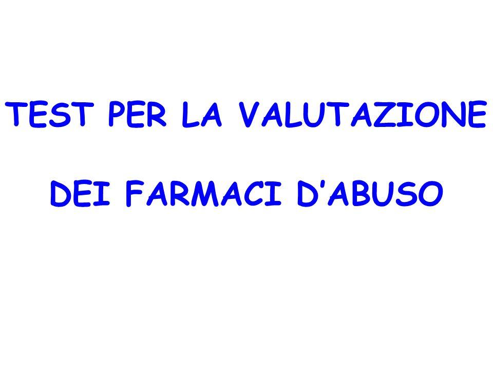 TEST PER LA VALUTAZIONE DEI FARMACI D'ABUSO