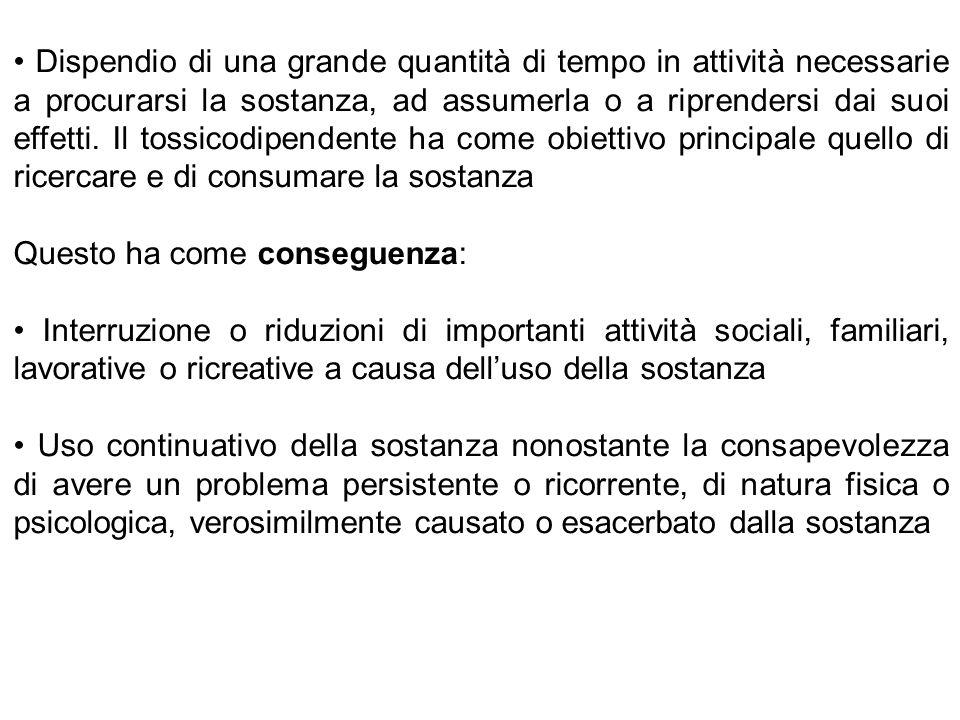 QUANTO TEMPO PERMANE L'HABITUATION? (Bassareo e Di Chiara, 1997)