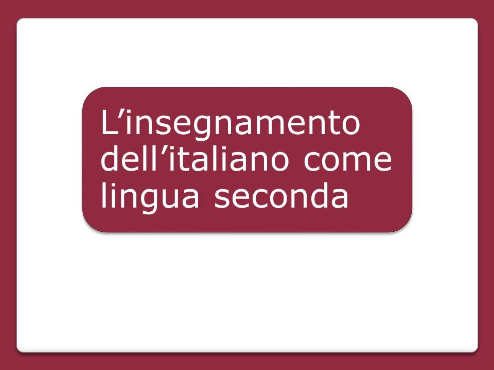 L'insegnamento dell'italiano come lingua seconda
