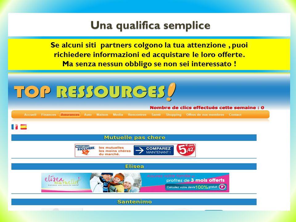 Una qualifica semplice Resta inteso che se alcuni siti partners t'interessano, puoi richiedere informazioni ed acquistare le loro offerte.