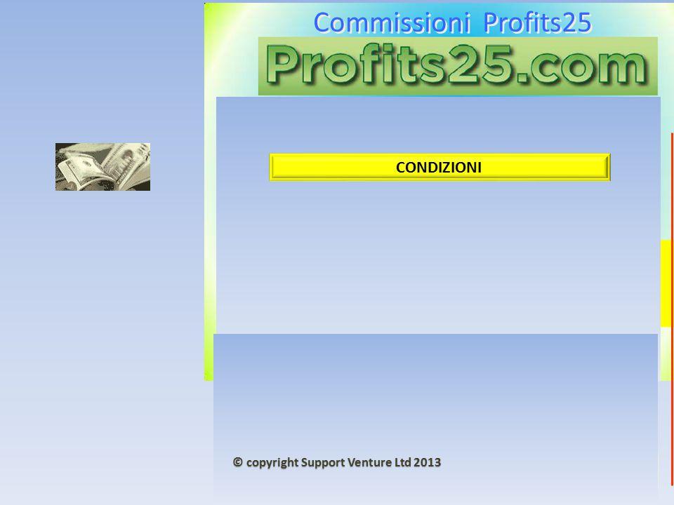 Commissioni Profits25 5000 + 5000 € CONDIZIONI © copyright Support Venture Ltd 2013