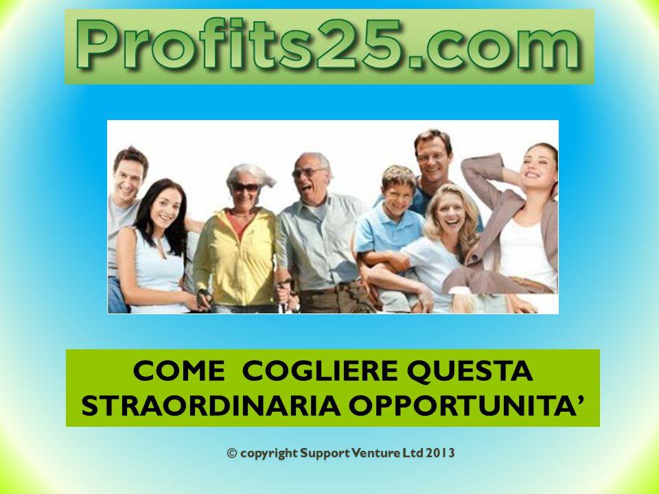 COME COGLIERE QUESTA STRAORDINARIA OPPORTUNITA' © copyright Support Venture Ltd 2013