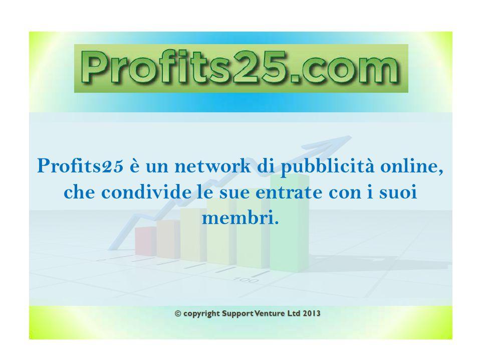 25 €uro Profitti crescenti © copyright Support Venture Ltd 2013