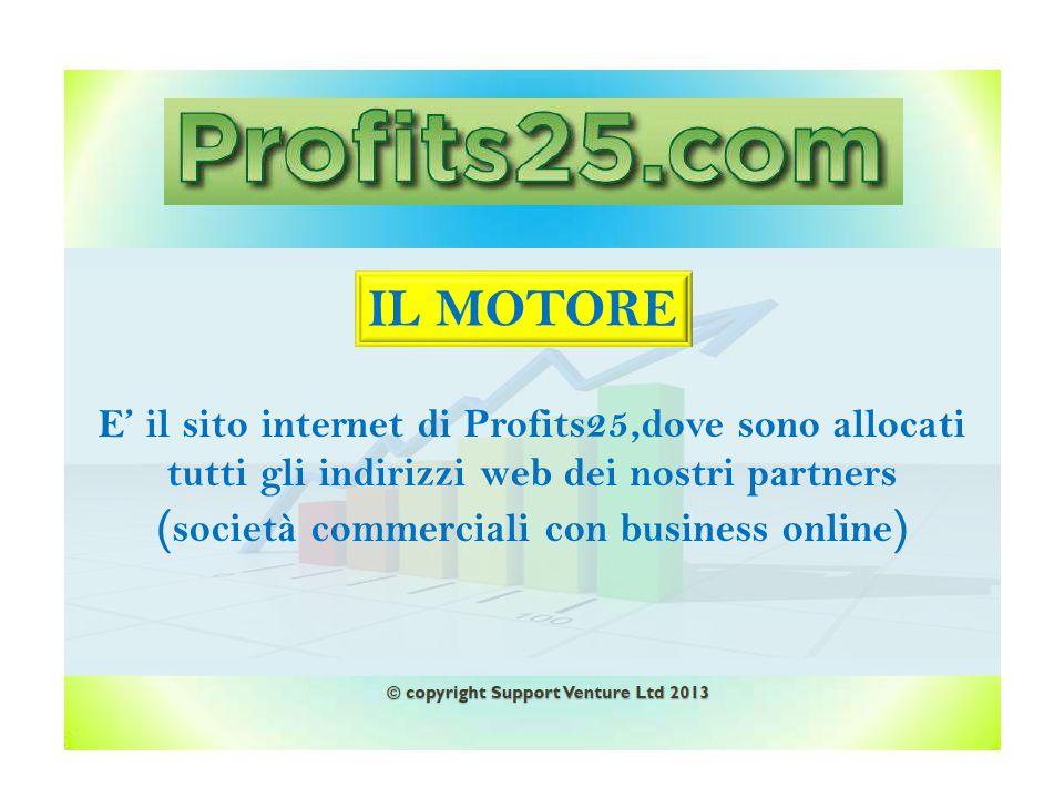 Allargare la base di visitatori dei siti dei nostri inserzionisti ( partners ) Profits25.com Siti partners Clienti/visit Obbiettivo
