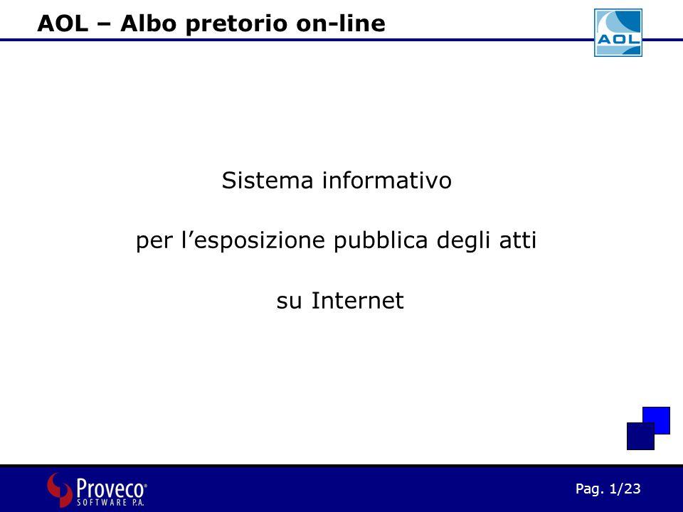 Pag. 1/23 AOL – Albo pretorio on-line Sistema informativo per l'esposizione pubblica degli atti su Internet