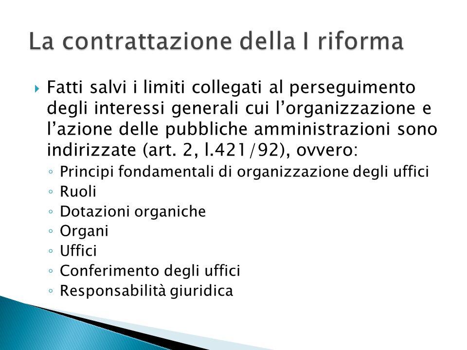  Fatti salvi i limiti collegati al perseguimento degli interessi generali cui l'organizzazione e l'azione delle pubbliche amministrazioni sono indiri