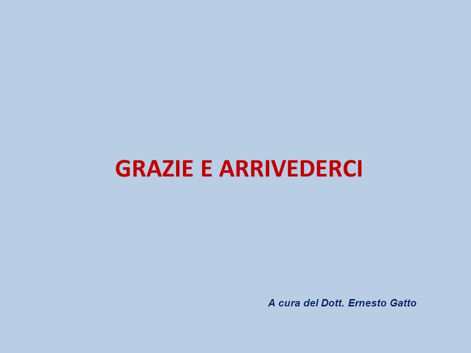 GRAZIE E ARRIVEDERCI A cura del Dott. Ernesto Gatto