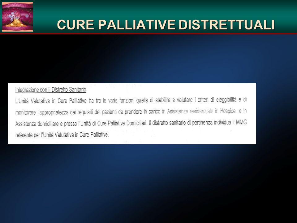 CURE PALLIATIVE DISTRETTUALI