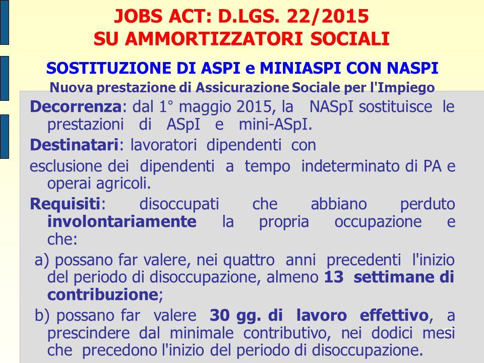 27 JOBS ACT: D.LGS.