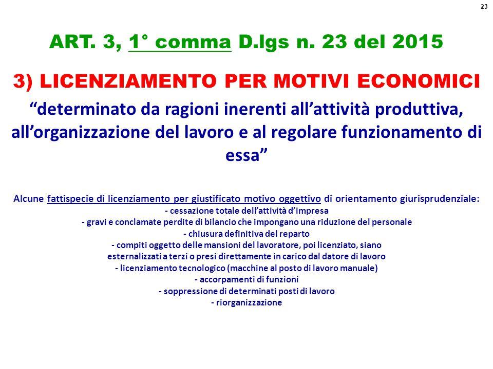 ART.3, 1° comma D.lgs n.