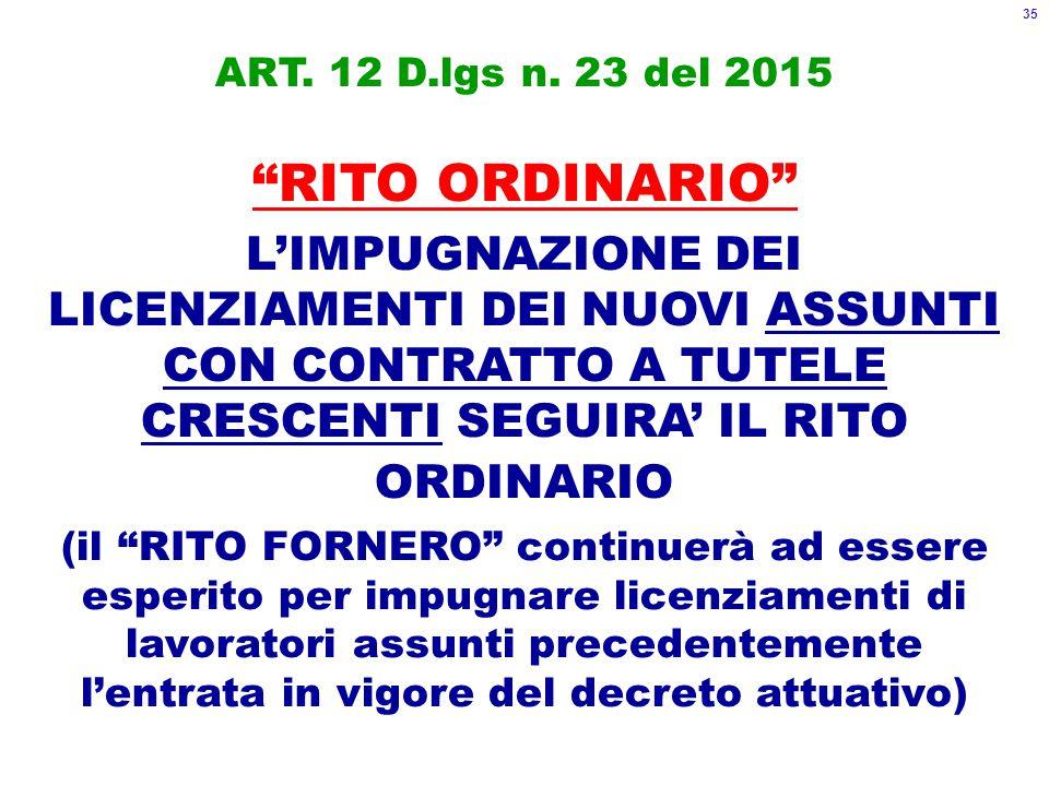ART. 12 D.lgs n.