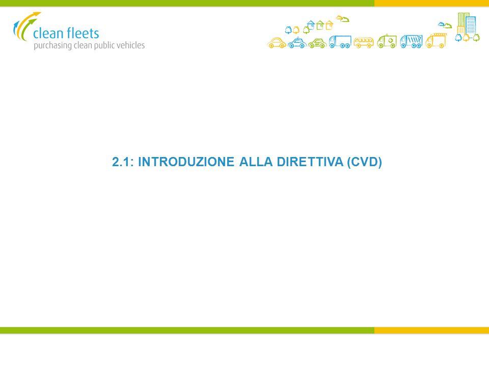 2.1: INTRODUZIONE ALLA DIRETTIVA (CVD)