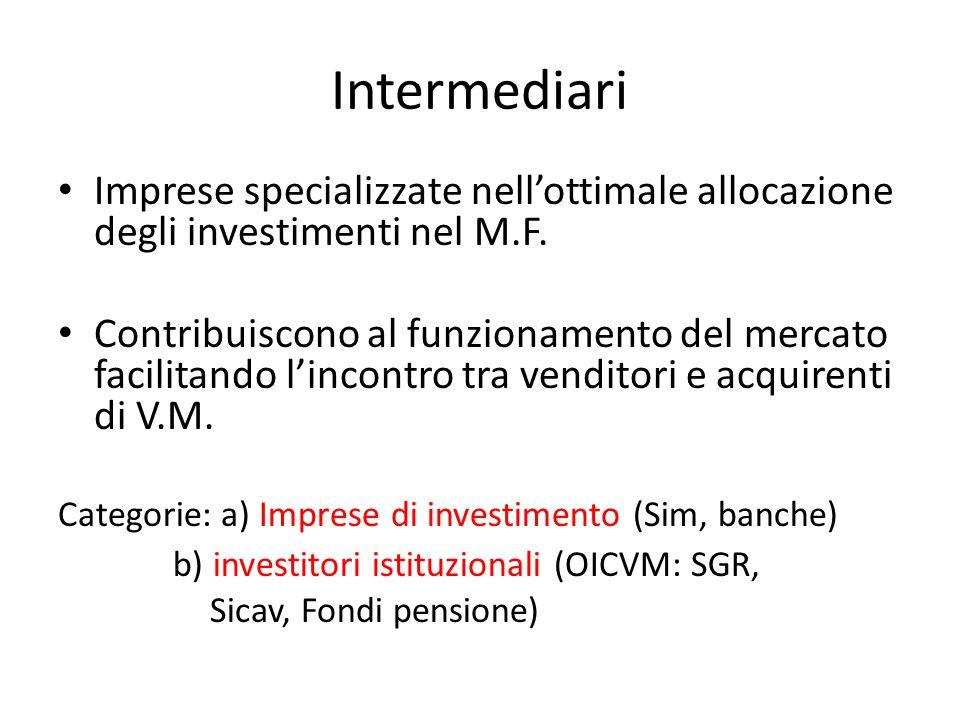 Servizi di investimento Art.1, c. 5 Tuf: --Negoziazione per conto proprio (cd.