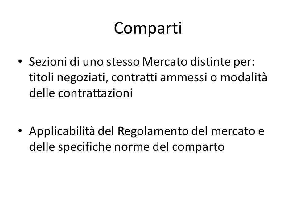Borsa Italiana Spa SGM di 2 mercati: --Mercato ufficiale di Borsa --Idem