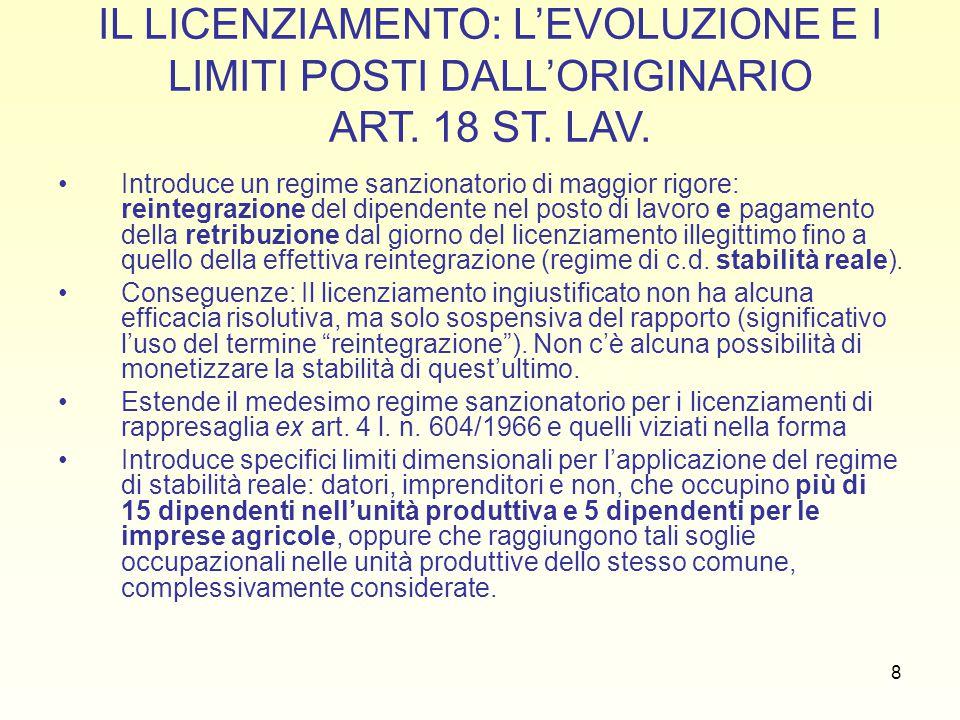 49 JOBS ACT: IL CONTRATTO A TUTELE CRESCENTI LICENZIAMENTO SENZA GIUSTA CAUSA O GIUSTIFICATO MOTIVO TUTELA MERAMENTE INDENNITARIA: il giudice dichiara estinto il rapporto di lavoro alla data del licenziamento e condanna il datore di lavoro al pagamento di un indennità non assoggettata a contribuzione previdenziale di importo pari a due mensilità dell ultima retribuzione di riferimento per il calcolo del trattamento di fine rapporto per ogni anno di servizio, in misura comunque non inferiore a quattro e non superiore a ventiquattro mensilità.