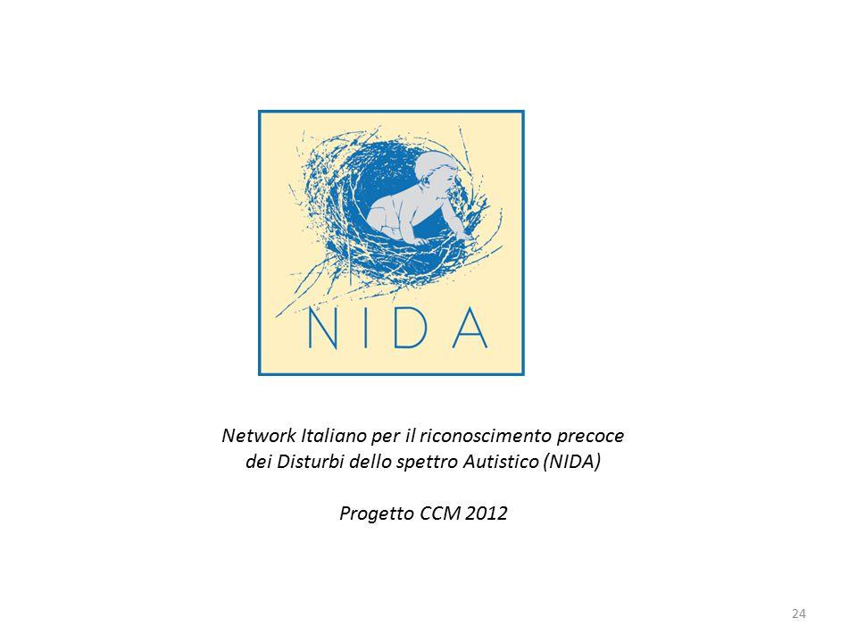 Network Italiano per il riconoscimento precoce dei Disturbi dello spettro Autistico (NIDA) Progetto CCM 2012 24